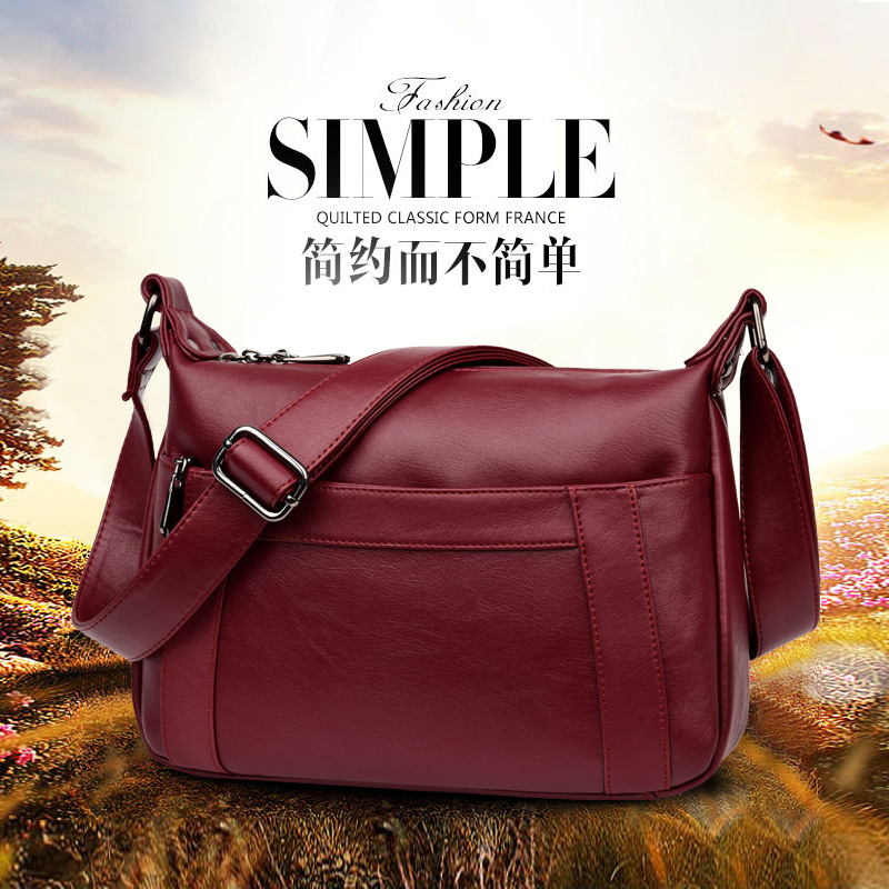 2018 Luxury Brand Handbags Women Bags Designer Leather Female Messenger Bags Casual Tote Ladies Shoulder Bags Bolsa Feminina 282 brand designer large capacity ladies brown black beige casual tote shoulder bag handbags for women lady female bolsa feminina page 2