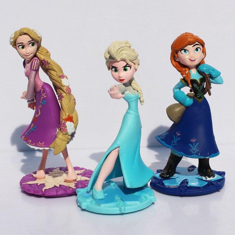 Disney Frozen 3pcs/Set 5cm Movie Toys Anna Elsa Action Figure Cake Ornament Model Anime Collection Figurine Toys Model For Gifts