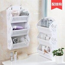 Free perforated wall Storage rack bathroom multi-storey shelves bathroom table floor racks wash racks