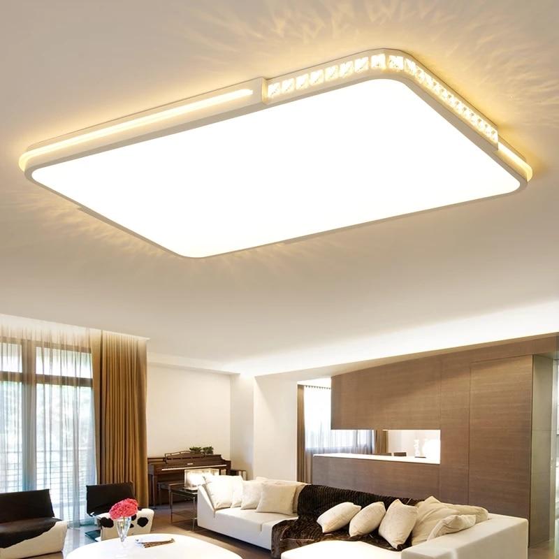 купить Rectangle Modern led ceiling lights for Living room Bedroom Kitchen luminaria ultra-thin Study Room luminaria led ceiling lamp по цене 6374.77 рублей