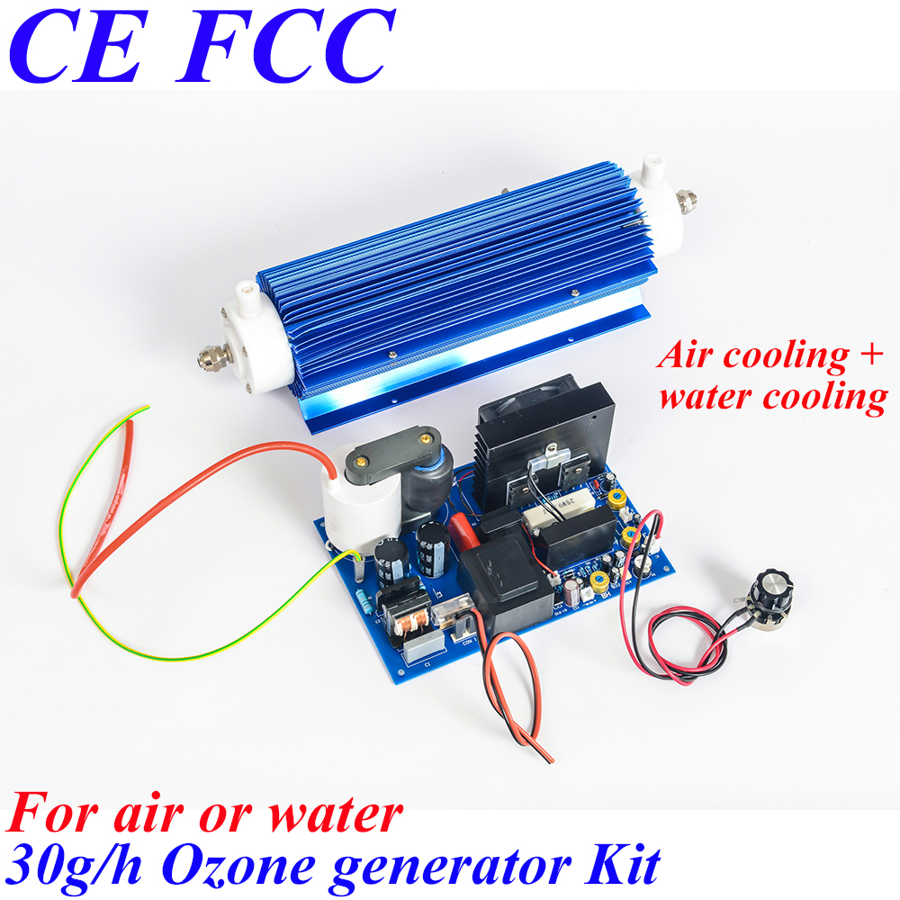 Pinuslongaeva CE EMC LVD FCC 30g/h Quartz tube type ozone generator Kit air and water ozonator household ozone water purifier to russia pinuslongaeva 12g h quartz tube type ozone generator kit water ozonator for water plant portable purifier ozonator