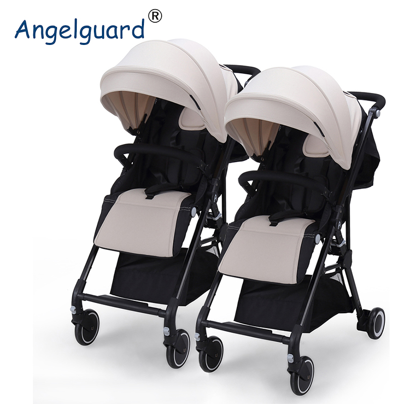 High Landscape Twin Baby Stroller Can Sit, Lie, Split Twins, Stroller, Light Two Child Cart angelguard high landscape twins baby stroller can split ultra light umbrella can be two color twins baby stroller