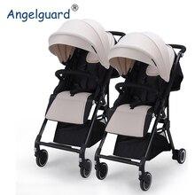 High Landscape Twin Baby Stroller Can Sit, Lie, Split Twins, Stroller, Light Two Child Cart