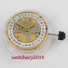 цена New Classic vintage golden plated eta 2824 date window automatic mechanical movement онлайн в 2017 году