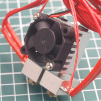 1 Uds quimera 2 en 2 Dual de Metal V6 salida Hotend kit 1 75mm 12V 12 V/24 V PT100 sensor|hotend kit|hotend v6|hotend chimera -
