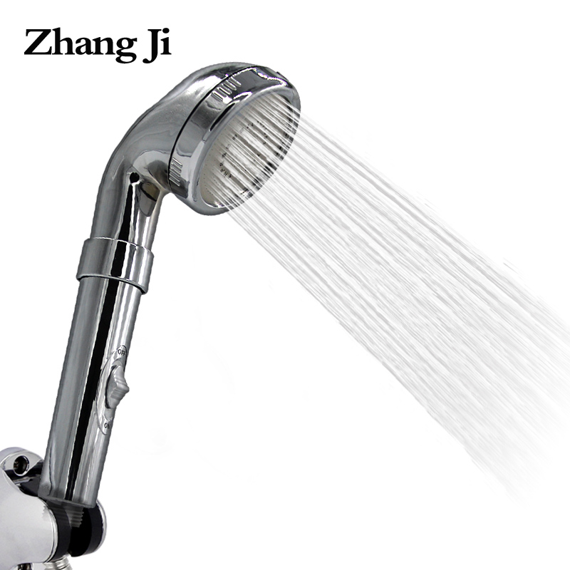 Free shipping new adjustable chrome hand hold shower head Bathroom accessories durable abs round shower nozzle rain head ZJ057-in Shower Heads from ...