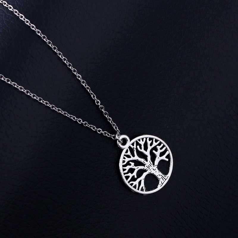 Life Tree Pendant Stainless Steel Necklace For Women&Men Trendy Metal Plants Necklaces Fashion Classic Life Tree Jewelry SN71