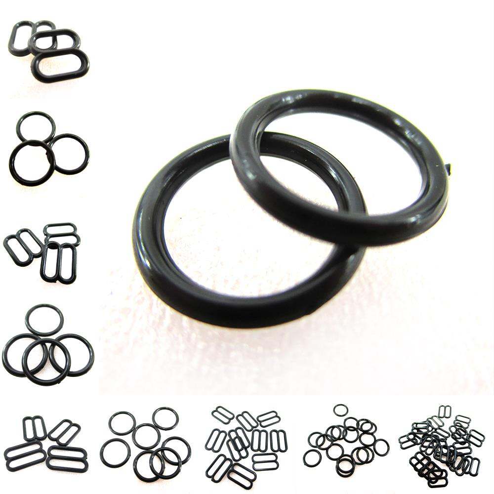 David Accessories 2color100pcs/pack DIY Bra Clasp Rings Adjust Buckles Plastic Slider Shaped Lingerie Adjustable Sewing ,1Yc2402