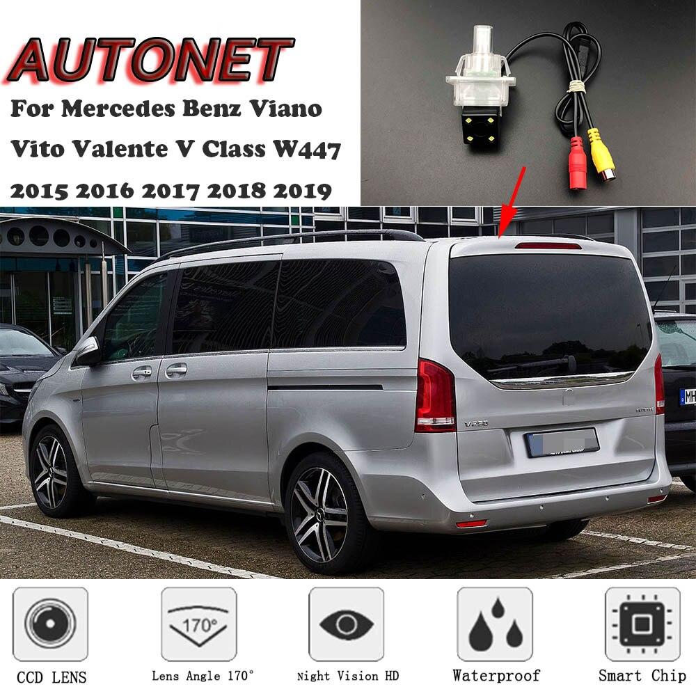 AUTONET Backup Rear View Camera For Mercedes Benz Viano Vito Valente V Class W447 2015 2016 2017 2018 2019 /license Plate Camera