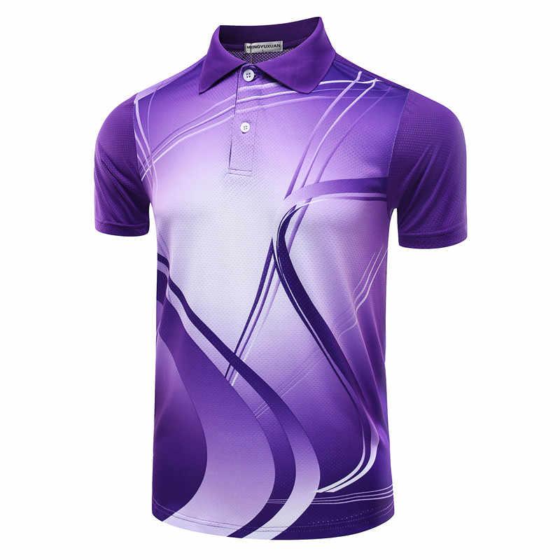 Рубашка для бадминтона с бесплатной печатью для мужчин/женщин, рубашка для настольного тенниса, футболка для бадминтона для женщин/мужчин, Спортивная теннисная рубашка 5051AB