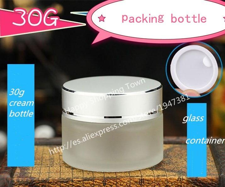 potovalna steklenica 30g zmrznjene steklene kozarce, 30 ml kozarci za - Orodja za nego kože