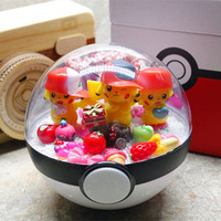 Anime PokeBall Monster Pet pokebolas Pikachu DIY LED Action Figure Model Cool Collection Toys For Kid Birthday Gift