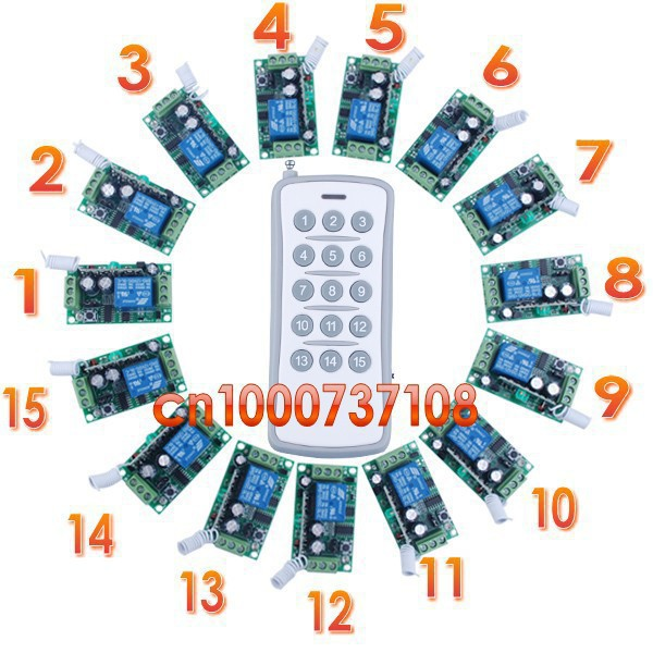 Free shipping DC12V10A Learning Code Wireless Remote Control Switch System for garage door Smart home control system