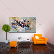 Professional Artist Handmade Colorful Abstract Oil Painting on Canvas