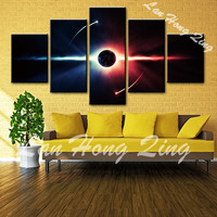 NEW 5 pcs about sky night scene canvas painting print on canvas for wall decoration oil painting coffee living room