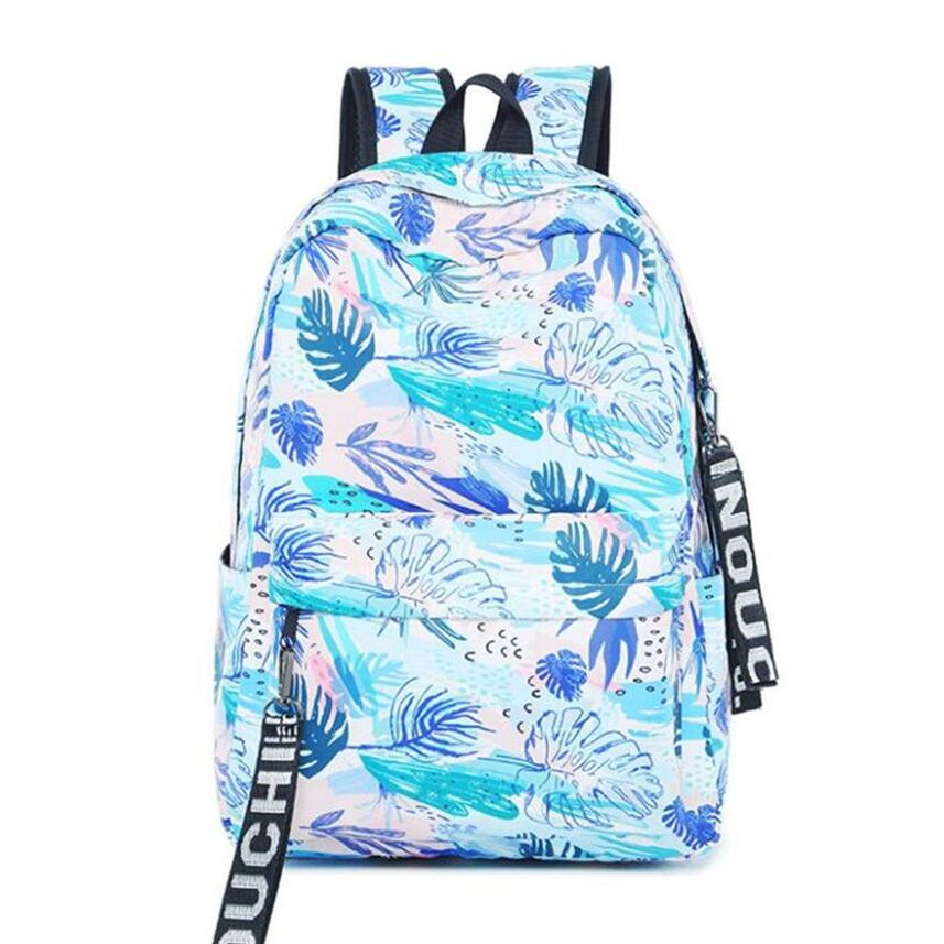 fashion leaf print child school backpack female laptop bag 15.6 backpacks for teenage girls women travel bags schoolbag backpack все цены