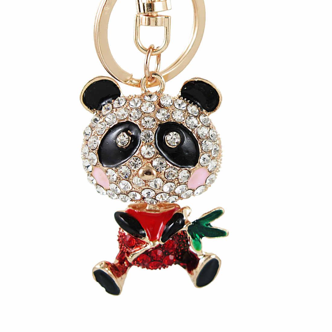 Hig Qualty Bear Giant panda Crystal Sleutelhanger Houder Strass Sleutelhanger Auto Sleutelhanger Voor Houder Tas Verjaardag Vriend Gift