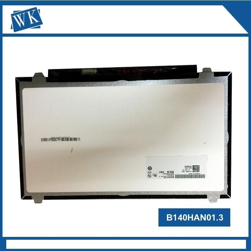 Free shipping 14 inch B140HAN01.2 LP140WF1 SPB1 B140HAN01.3 B140HAN01.0 B140HAN01.1 For thinkpad L440 T440 screen 1920*1080 ips free shipping 14 inch led 1920 1080 b140han01 b140han01 2 b140han01 1 lp140wf1 spk1 30pin for lenovo t440 y40 lcd led screen