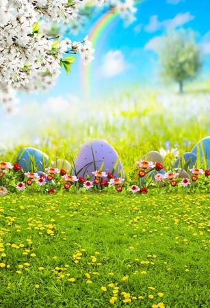5x7FT Primavera arcobaleno uova di Pasqua fotografia ...