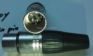 Image 2 - Free Shipping 4pin Neutrik design cannon XLR connector  20 pcs/lot (10pcs Female+10pcs Male )  for hot selling