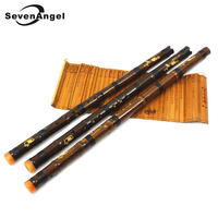 Professionnel Pourpre Bambou Flûte Xiao Chinois Vertical Piccolo Shakuhachi Chine classique traditionnelle musique instrument Dizi Xiao