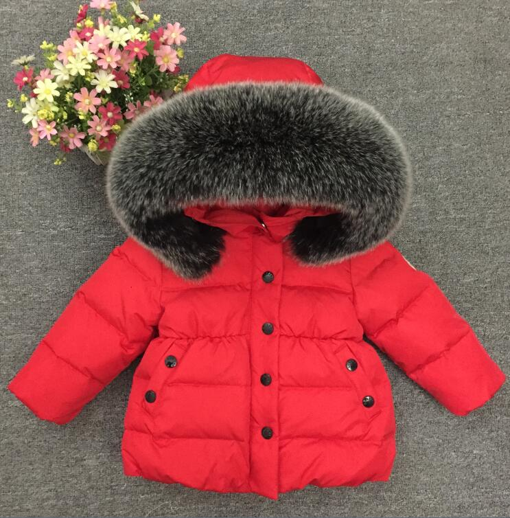 2018 date 2 - under ultra light baby girl duck down jacket down over 90% of hot spring, autumn winter coat with cap kids clothe