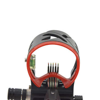 1pc Archery Compound Bow Sight AXT4 RONIN 5-Pin Sight Adjustable Aluminum Alloy Right Hand Shooting Accessories