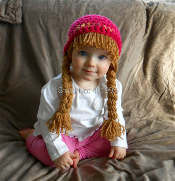Crochet baby girl hat Cabbage Patch Wig Halloween Costume for Kids Hippie  Clothes toddler Hat Infant Newborn Children beanie-in Hats   Caps from  Mother ... a3089040fcd