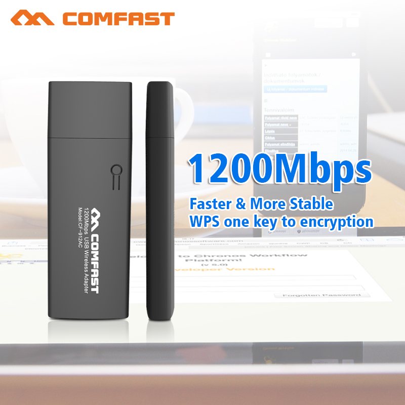 100pcs ! 1200Mbps Dual Band Network Card 2.4GHZ/5GHZ Wireless Wifi Adapter IEEE 802.11a/b/n/g/ac USB 3.0