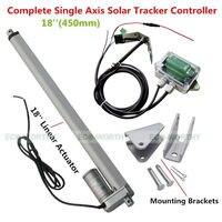 Новинка! 1 кВт Солнечная система слежения одна ось, линейный привод, полный комплект отслеживания солнечного света Бесплатная доставка трек