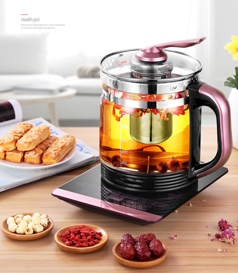 Electric kettle automatic power cut off household heating transparent glass thermostat mini tea potElectric kettle automatic power cut off household heating transparent glass thermostat mini tea pot