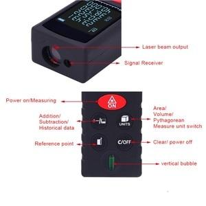Image 5 - 40 100 M Laser Strahl Abstand Meter Digitale Entfernungsmesser Elektronische Maßband Range Finder Trena Signal empfänger Vertikale Blase