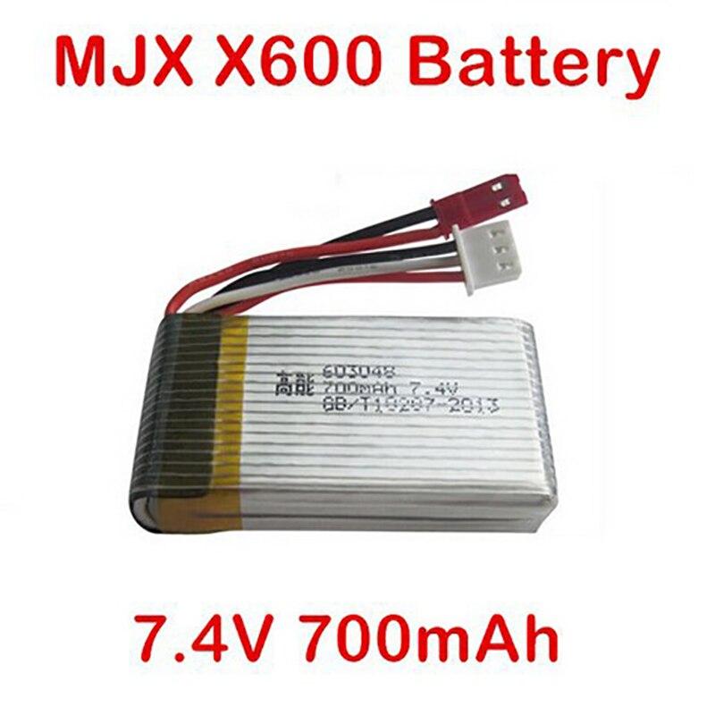 Batterie d'origine 7.4 V 700 mAh batterie pour MJX X600 RC Hexacopter pièces de rechange Recharge batterie livraison gratuite ( en stock )