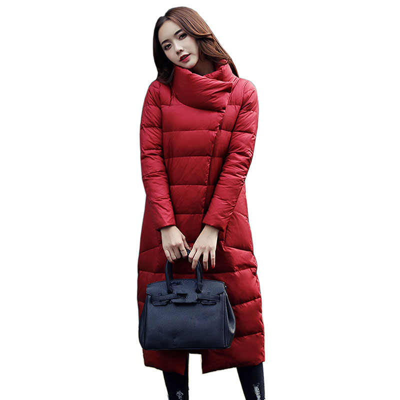 Winter Collection Women   Down     Coat   long Jacket Warm 2018 New High Quality Woman   Down   Parka Female Thickening Plus Size Outerwear