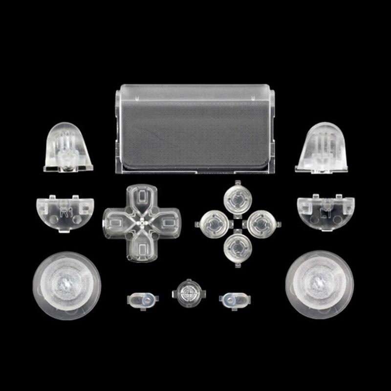 Melnās pilna komplekta rezerves daļu pogas PlayStation 4 PS4 - Spēles un aksesuāri - Foto 3