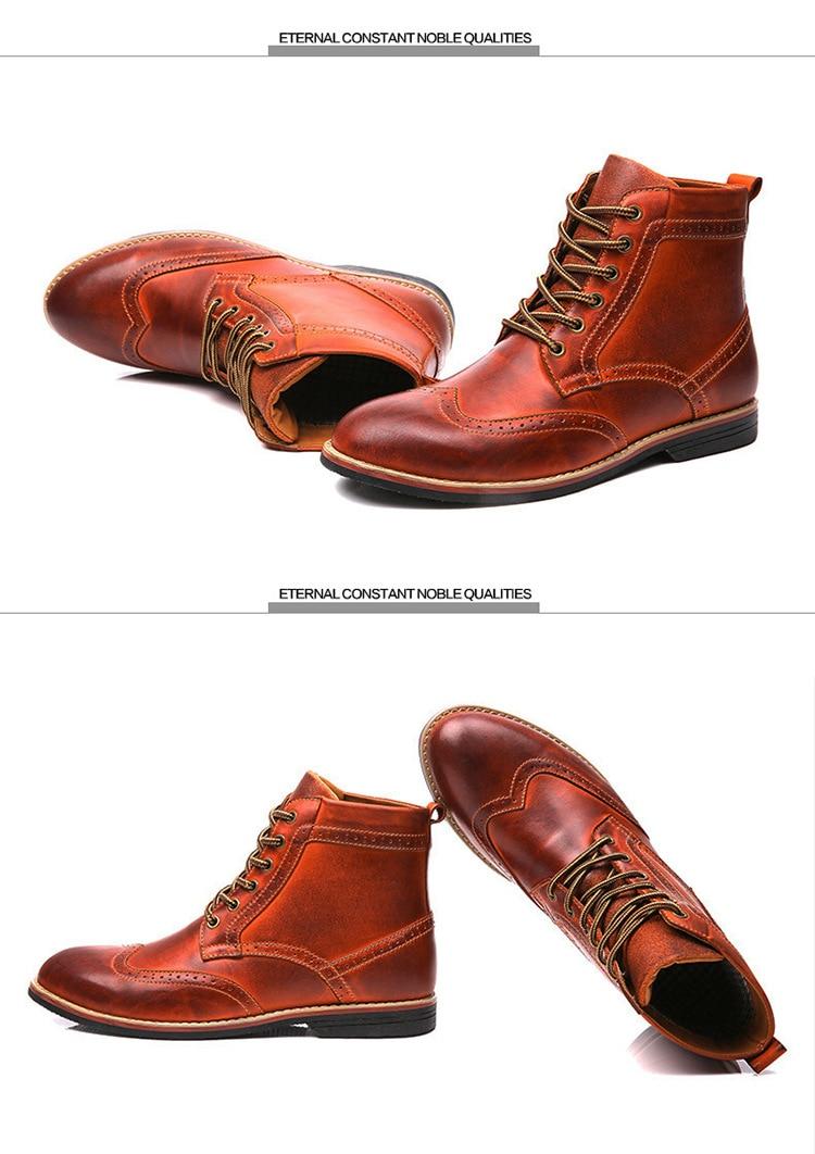 Großhandel ASIFN Herren Leder Stiefel Ton Aus Echtem Leder Schuhe Casual Männlichen Brogue Herbst Winter Knöchel Abendkleid Oxford Desert Boots Man