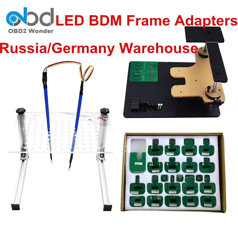 Recém LED Quadro BDM Para KTAG/-tag K Adaptador BDM Quadro Pin ECU Tuning Chip Ferramenta KESS Para K TAG KESS V2 Galleto FGTECH BDM 100
