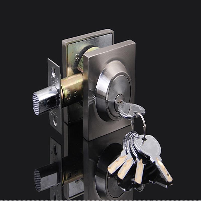 Mortice Znic Alloy Invisible Door Lock Deadbolt with 5 Keys цена