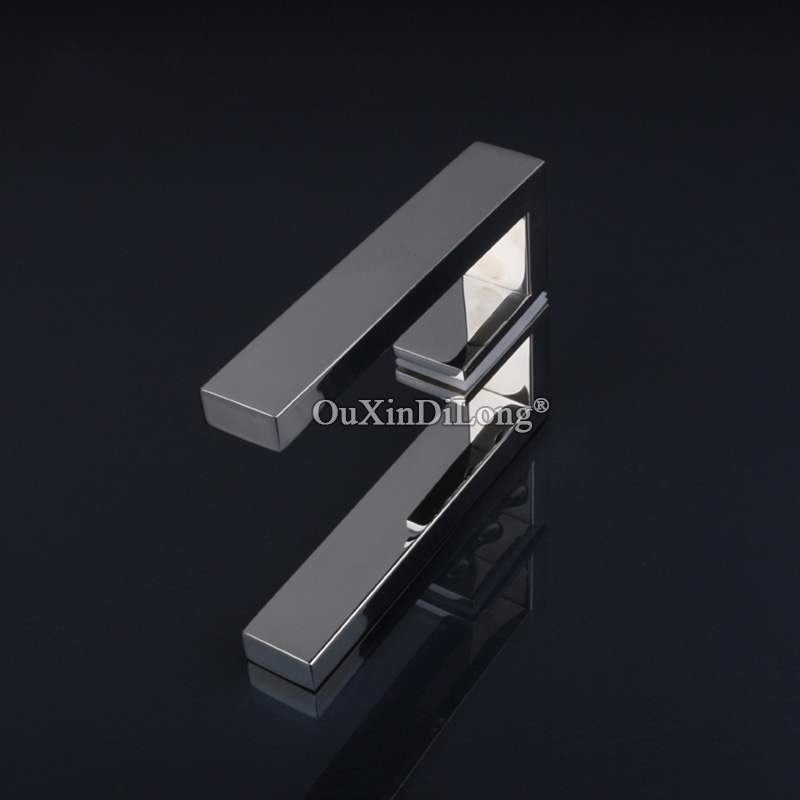 1PCS 304 Stainless steel bathroom door handles polish chrome shower room glass door handle JF1697 in Door Handles from Home Improvement