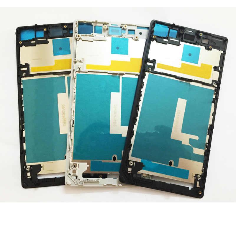 Pour Sony Xperia Z1 L39H C6903 Lcd support d'affichage cadre avant logement plaque de lunette