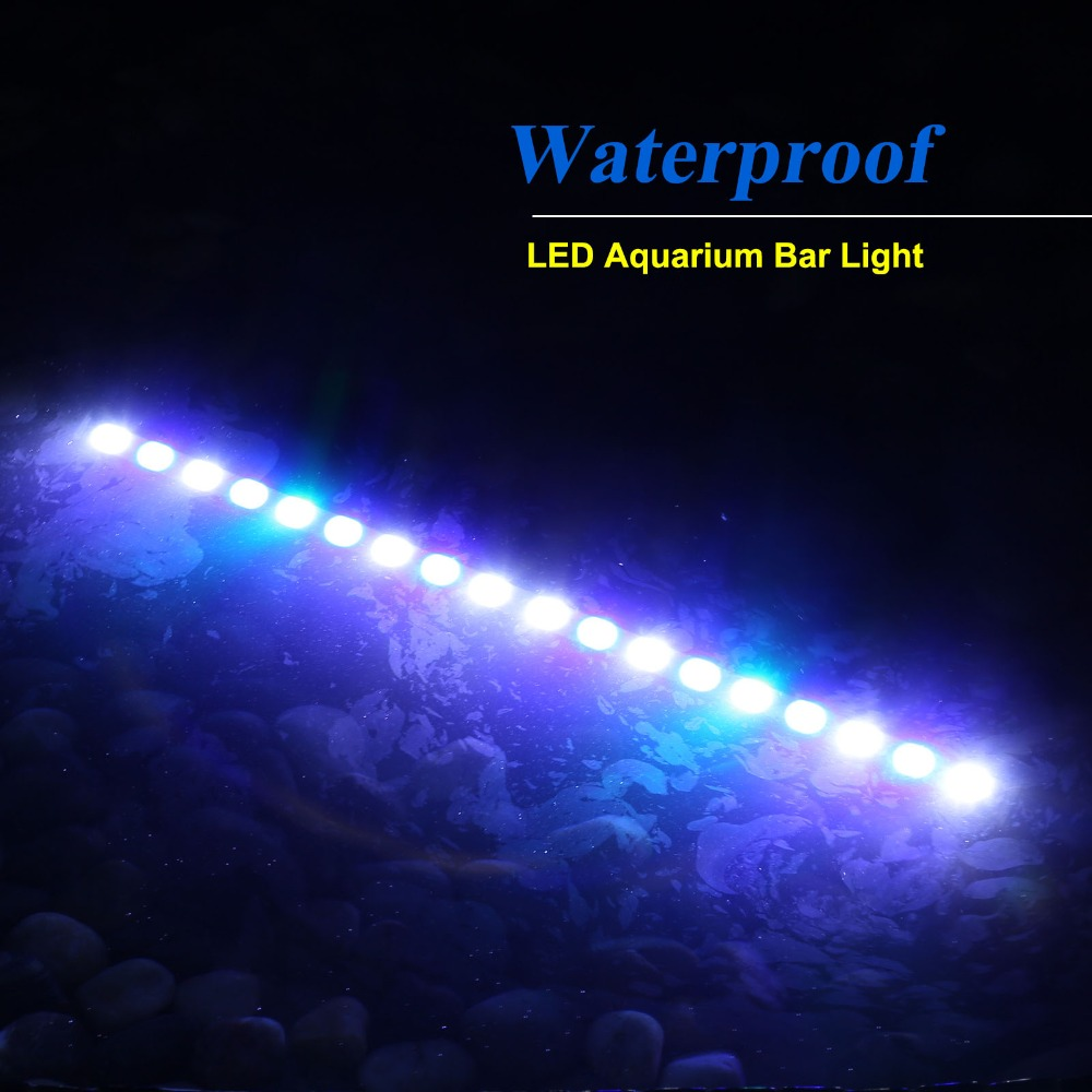10pcs/lot 81W IP65 LED aquarium light bar hard strip lamp for reef coral growth/plant freshwater/saltwater fish tank lighting 10pcs lot 54w 18 3w waterproof led aquarium bar light strip lamp for reef coral growth plant fish tank lighting marine