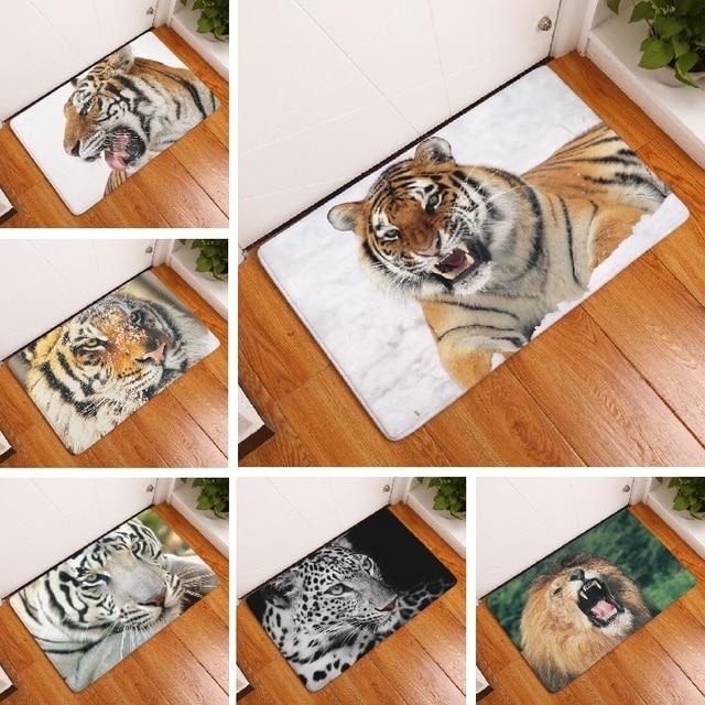 teppich tiger printed suede bodenmatte dekoration küche outdoor ... - Teppiche Für Küche