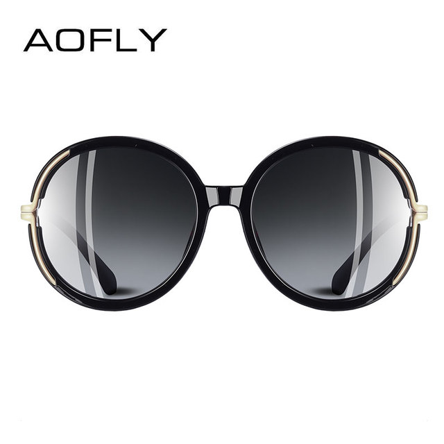 AOFLY BRAND DESIGN Vintage Oversized Sunglasses Women Metal Legs Polarized Sunglasses Round Lens Eyewear A126 2