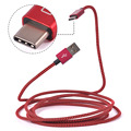 6.56ft 2 м 2.4A USB Тип C Двухсторонний Плетеный Кабель для Передачи Данных USB 2.0 Мужчина к USB Тип C Мужской Для OnePlus 2 Для Nokia