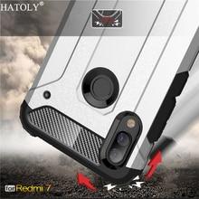 For Xiaomi Redmi 7 Case Silicone Rubber Armor Shell Protective Hard PC Phone Cover
