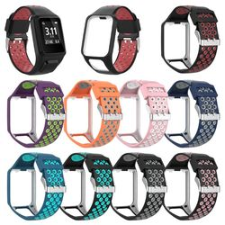 Two-tone Silicone Replacement Wrist Band Watch Strap For TomTom Runner 2 3 Spark 3 GPS Watch Fitness Tracker