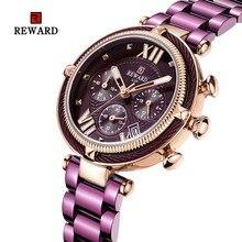 relogii Purple relogio estrelado Womens Luxury Dress Watches Rose Gold Quartz Wristwatch Brand Clock feminino luxo