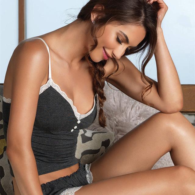 Sexy V-Neck Sleepwear Spaghetti strap lace Underwear