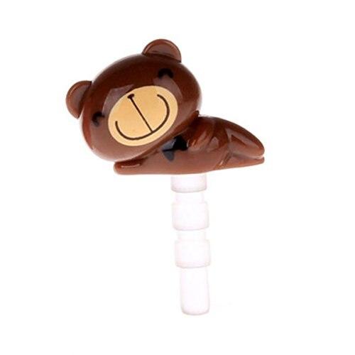 Bear Dust Plug 3.5mm Phone Headphone Jack Earphone Cap Ear Cap Dust Plug