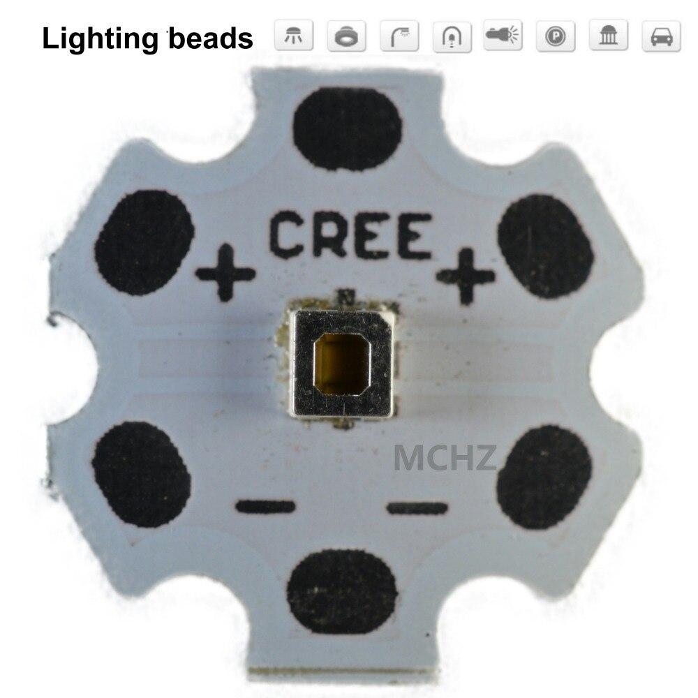 5 pièces Samsung 3030 2 W PCS Cree XPE XP-E/XTE XT-E/XPG XP-G 3535 LED PCB en aluminium panneau 20mm pour bricolage LED